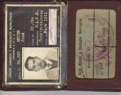 CARNET DE LA UNION EMPLEADOS MUNICIPALES  AÑO 1951  ARGENTINA   OHL - Old Paper