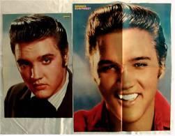 2 Musik Poster  - Elvis Presley  -  Rückseitig Kim Wilde + Orchestral Manceuvres  -  Von Bravo Ca. 1982 - Plakate & Poster