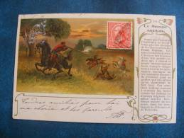 CP....VII....POSTE ..LE MESSAGER AMERICAIN. .PRECURSEUR 1901 - Poste & Postini