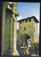 RB 908 - 1972 Postcard - The Gate Of The Town - San Marino Italy 25c Rate To Germany - 3 Stamps Franking - Bird Theme - San Marino