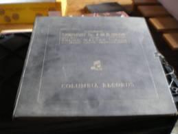 Coffret De 4 Disques Vinyles 33 T Colombia Records Schumann Symphony N°4 Bruno Walter Mozart Festival Orchestra Paris - Classique
