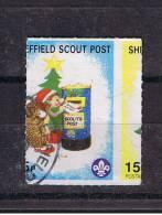 RB 908 - GB Perforation Error Cinderella Stamp - Sheffield Scout Post - Yorkshire - Scouting Theme - Cinderellas