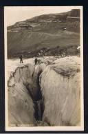 RB 908 - Early Real Photo Postcard - Climbing Mountaineering Alpism - Eigergletscher - Switzerland - Climbing
