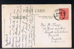 RB 908 - 1911 Postcard With Harrison 1d Perf 15x14 (cat £15) - All Saints Parish Church - Dovercourt Essex - 1902-1951 (Kings)