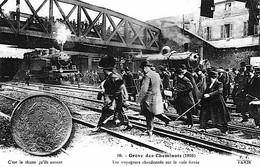 PARIS Grève Cheminots 1910 Locomotives Train  Carte à La Thune état Superbe - Métro Parisien, Gares