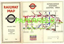 Railway Map - LONDON Underground Transport  - N°2 1936 - Mapas