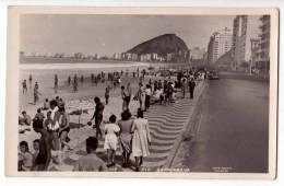 AMERICA BRAZIL RIO DE JANEIRO THE COPACABANA BEACH Nr. 117 OLD POSTCARD - Rio De Janeiro