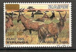 Zaire / Congo Kinshasa / RDC - NON EMIS / UNISSUED - Surcharge 100NZ Sur COB 1160 - MNH / ** 1994 - Faune - Zaïre