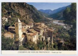 """TOUET Sur Var--Vue Générale """"Chemins De Fer De Provence""""cpm éd Nija Films - Andere Gemeenten"""