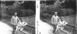00003 - MILITAIRES GUERRE 14/18 - ROBERT ET GASTON Guerre 1914-1918 - Plaques De Verre
