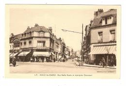CPA : 59 - Nord ! Malo Les Bains : Rue Belle Rade Et Adolphe Geeraert : Animation , Magasins, Voitures: Vue Peu Commune - Malo Les Bains