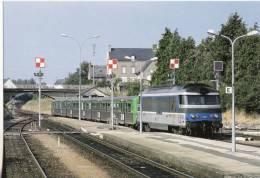 CF 43 Chemins De Fer, Train, Locomotive BB 67373 En Gare De Dol-de-Bretagne En Juillet 1999 - Dol De Bretagne