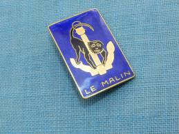 INSIGNE MARINE  :  LE MALIN  --- CONTRE TORPILLEUR
