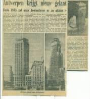 Krantenbericht  1968 - Antwerpen Krijgt Nieuw Gelaat - Boerentoren - Non Classés