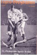 Programme Jeux Olympique Berlin 1936  Tages Programm  5 Aout - Programme