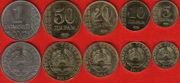 Tajikistan Set Of 5 Coins: 5 Diram - 1 Somoni 2011 UNC - Tadschikistan