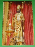 S.PETRONIO Vescovo  - Statua Lignea Del Santo - BOLOGNA Basilica - Santino - Images Religieuses