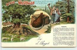GRUSS AUS WESTFALLEN  - Carte Folklorique. - Allemagne