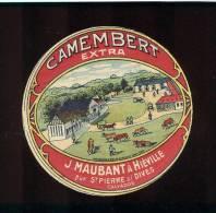 Etiquette De Fromage  Camembert   -  J. Maubant à Hiéville (Calvados) - Cheese