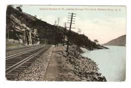 CPA : Central Hudson R; R. Passing Through Flat Rock , Hudson River : Tunnel , Rails , Hudson - NY - New York