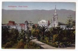 AMERICA CHILE ANTOFAGASTA COLON SQUARE OLD POSTCARD - Chile
