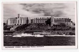 AMERICA CHILE VALPARAISO TECHNICAL UNIVERSITY SANTAMARIA OLD POSTCARD 1958. - Chile