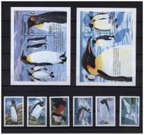 TANZANIA 2 SHEETS 6 SETS MARINE LIFE - Pinguïns & Vetganzen