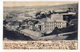 AMERICA CHILE VALPARAISO THE HARBOUR OF VALPARAISO OLD POSTCARD 1899. - Chile