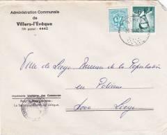 1066+1368 Op Brief ADMINISTRATION COMMUNALE DE VILLERS-L'EVEQUE Met Stempel OTHEE (TARIF PREFERENTIEL) (gemeentebestuur) - 1953-1972 Anteojos
