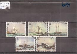 AURIGNY / ALDERNEY Série Oblitérée N° 32/36       (ref 346 ) - Alderney