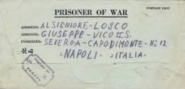 POW 1943 Lettera Di Prigioniero Di Guerra Italiano Su Modulo Da Camp N. 127 Per Napoli - Seconda Guerra Mondiale
