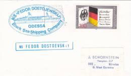 "Schiffspost, MS ""Fedor Dostojewskij"" Black Sea Shipping Company, Odessa, Stempel: Kiel 2.5.1989"