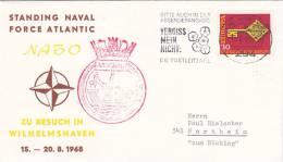 """Schiffspost """"Argonaut"""", Nato Zu Besuch In Wilhelmshaven, Stempel: Wilhelmshaven 19.8.1968 - Maritime"""