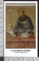 Xsa-10173 BEATO GIACOMO DA VITERBO VESCOVO AGOSTINIANO Santino Holy Card - Religion & Esotericism