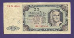 POLAND 1948, Banknote Used VF, 20 Zlotych Km 137 - Poland