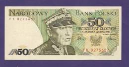 POLAND 1986, Banknote UNC, 50 Zlotych Km 142 - Polen