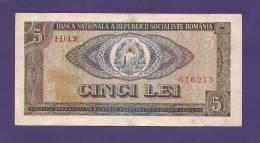 ROMANIA 1966,  Banknote Used VG, 5 Lei (little Hole In Centre Km88 - Romania