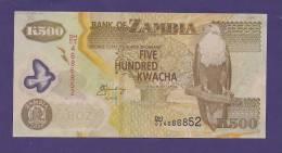 ZAMBIA 2006,  Banknote UNC,  500 Kwacha (special Paper) - Zambia