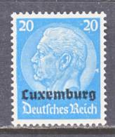 German Occupation Luxembourg  N 9  * - Occupation 1914-18