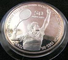 Niue 50 $ 1987 Tennis Bekker Silver - Niue