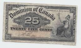 CANADA 25 CENTS 1900 AVF P 9b 9 B - Canada