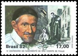 Brazil 1982 ( 400th Birth Anniv. Of St. Vincent De Paul ) - MNH (**) - Unused Stamps