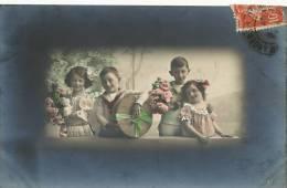 Groupe 4 Enfants RPU 3295/3 Colorisée - Groupes D'enfants & Familles