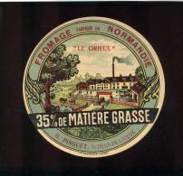 Etiquette De Fromage -   Le Cirieux  -  G. Pinguet  à St Désir De Lisieux  (Calvados) - Cheese