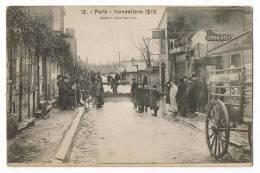Paris Innondation 1910 Auteuil Rue Van Loo - Inondations De 1910