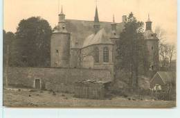 ECAUSSINES  -  Vieux Chateau D´Ecaussines-Lalaing.le Chateau Et La Chapelle Vus Du Berceau Nord. - Ecaussinnes