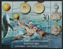 Yougoslavie Joegoslavie 2001 Yvertn° Bloc 52 *** MNH Cote 6 Euro Sport Faune - Blocs-feuillets