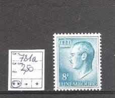 LUXEMBOURG N° 781 A ** Papier Phosphorescent  Cote Yvert : 2,50 € Superbe! - Nuovi