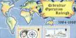 Gibraltar Yvertn° Bloc 10 *** MNH Cote 6,50 Euro Operation Raleigh - Gibraltar