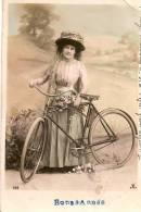 Seine Maritime / Bourg Beaudoin/ Boos// Jeune Femme Avec Vélo/ 1913       CPDIV19 - Non Classés